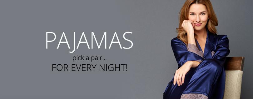 Women's Silk Pajamas: Sexy, Designer PJs in Silk and Cotton