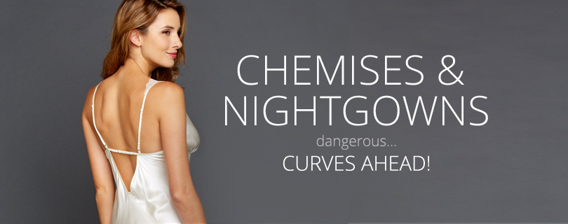 Sexy Silk Chemises, Luxury Silk Nightgowns for Women